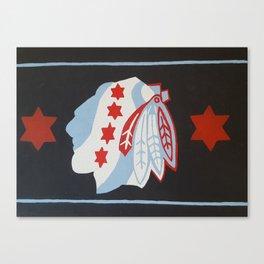 Chicago hockey flag Canvas Print