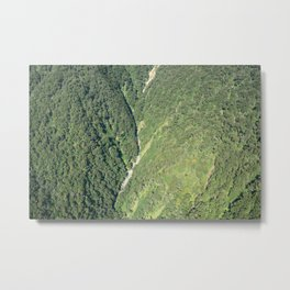 Flying over Milford Sound Metal Print
