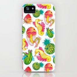 Fruit Fish Frenzy White iPhone Case