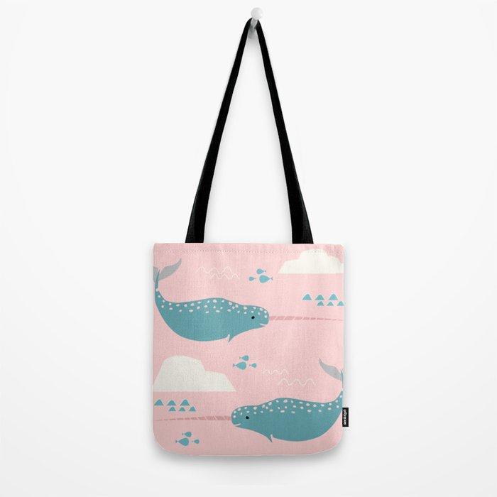 Narwhal pink Tote Bag