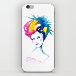 Annabelle, watercolor painting iPhone Skin