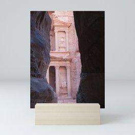 End of the path to Petra Jordan Mini Art Print