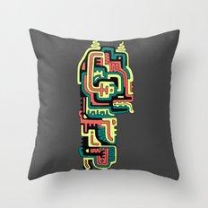 dAM Totem Throw Pillow
