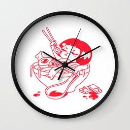 Suki & Saki - Dreams of Ramen Wall Clock