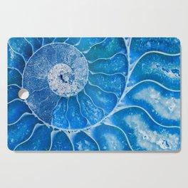 Blue colored Ammonite fossil Cutting Board
