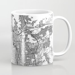 Lima White Map Coffee Mug