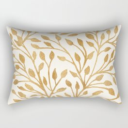 Golden Ficus Tree Rectangular Pillow