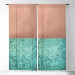 NEW EMOTIONS - ROSE & TEAL Blackout Curtain