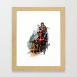 """""""Walking the dogs"""" Framed Art Print"""