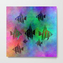 fishs in colors Metal Print
