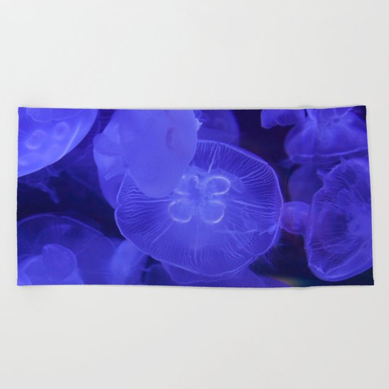 Moon Jelly Fish Beach Towel
