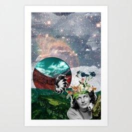 Between the Glass Art Print