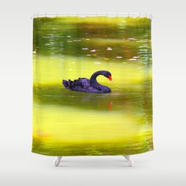 Swan In The Pond 2 ... By LadyShalene Shower Curtain