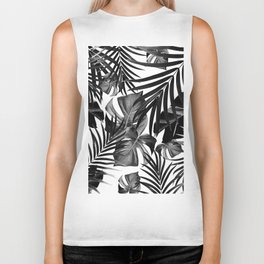 Tropical Jungle Leaves Pattern #10 #tropical #decor #art #society6 Biker Tank