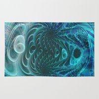 fractal Area & Throw Rugs featuring Fractal by nicky2342