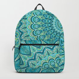 Turquoise Treat - Mandala Art Backpack