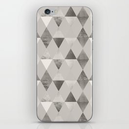 FUNKY PATTERN Triangles brown iPhone Skin
