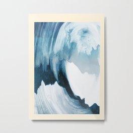 Free Wave Rising Metal Print
