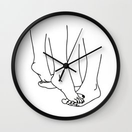 Lovers legs line Wall Clock