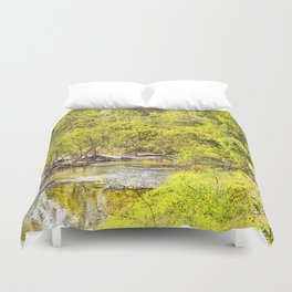 The Edge of the River Duvet Cover
