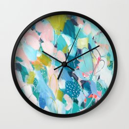 Ocean and Olive Wall Clock