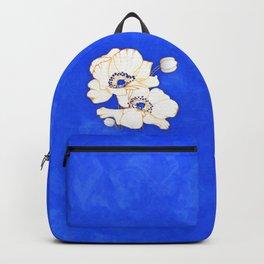 Ultramarine Blue :: Anemones Backpack