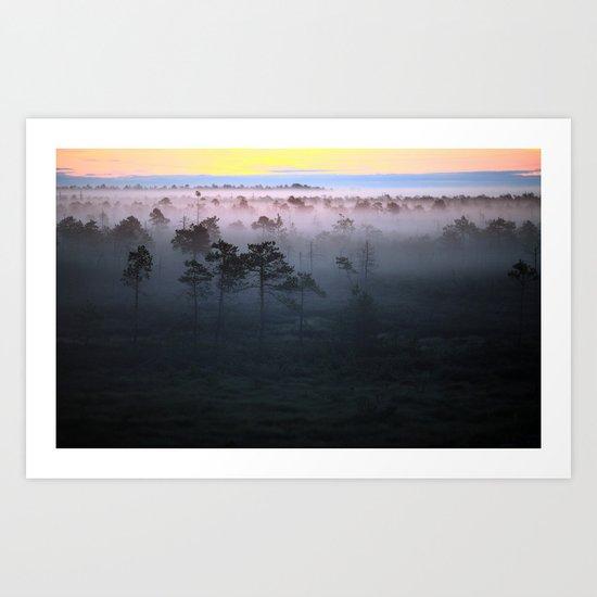 Foggy Earth Art Print