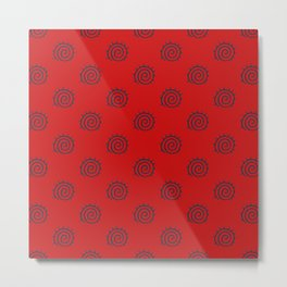 Red and Blue Spiral Pattern Metal Print