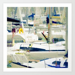 Harbour in the Bretagne Art Print