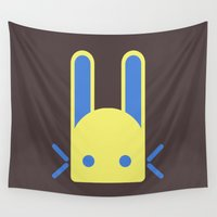 rare Wall Tapestries featuring The rare Jade Rabbit by anthonykun