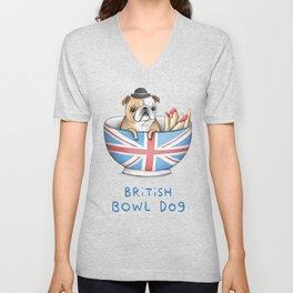 British Bowl Dog Unisex V-Neck