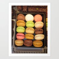 macarons Art Prints featuring Macarons by Catherine Heft