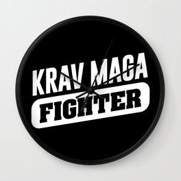 Krav Maga Fighter Martial arts fighter Wall Clock