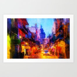 Streets of New Orleans Art Print