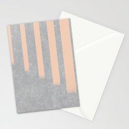Blush stripes on concrete Stationery Cards