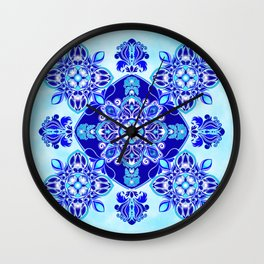 Inner wisdom (blue mandala) Wall Clock