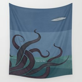 Jules Verne's Twenty Thousand Leagues Under the Sea - Minimalist literary design, literary gift Wall Tapestry