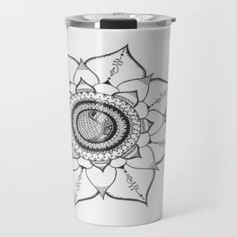 Hand Drawn Unalome Mandala Travel Mug