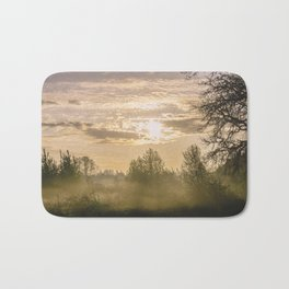 Sunrise in Woodburn Bath Mat