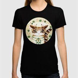 Poe: Heart of my Heart, St. Paddy's Day Cat, lucky charm T-shirt