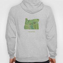 Oregon Counties watercolor map Hoody