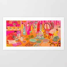 Indian Marketplace Art Print