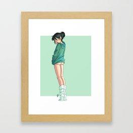 Peek-a-Boo Framed Art Print