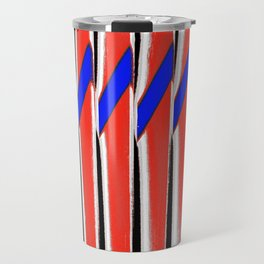 Red White Blue Abstract Travel Mug