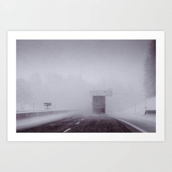 through the snow Art Print