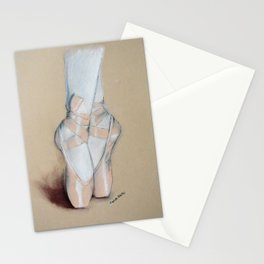 Ballet Pointe Shoes. Stationery Cards