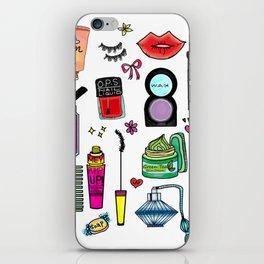 Cosmetic Doodles iPhone Skin