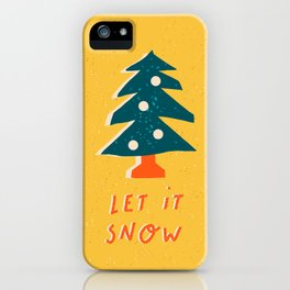 "Christmas and New Year card ""Let it snow"" iPhone Case"