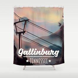 Gatlinburg travel poster Shower Curtain