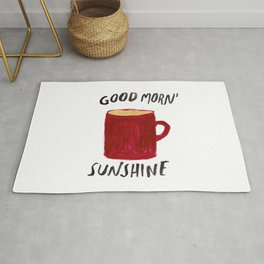 Coffee Is My Sunshine Rug